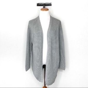 H&M Oversized Ribbed Knit Open Front Cardigan M/L